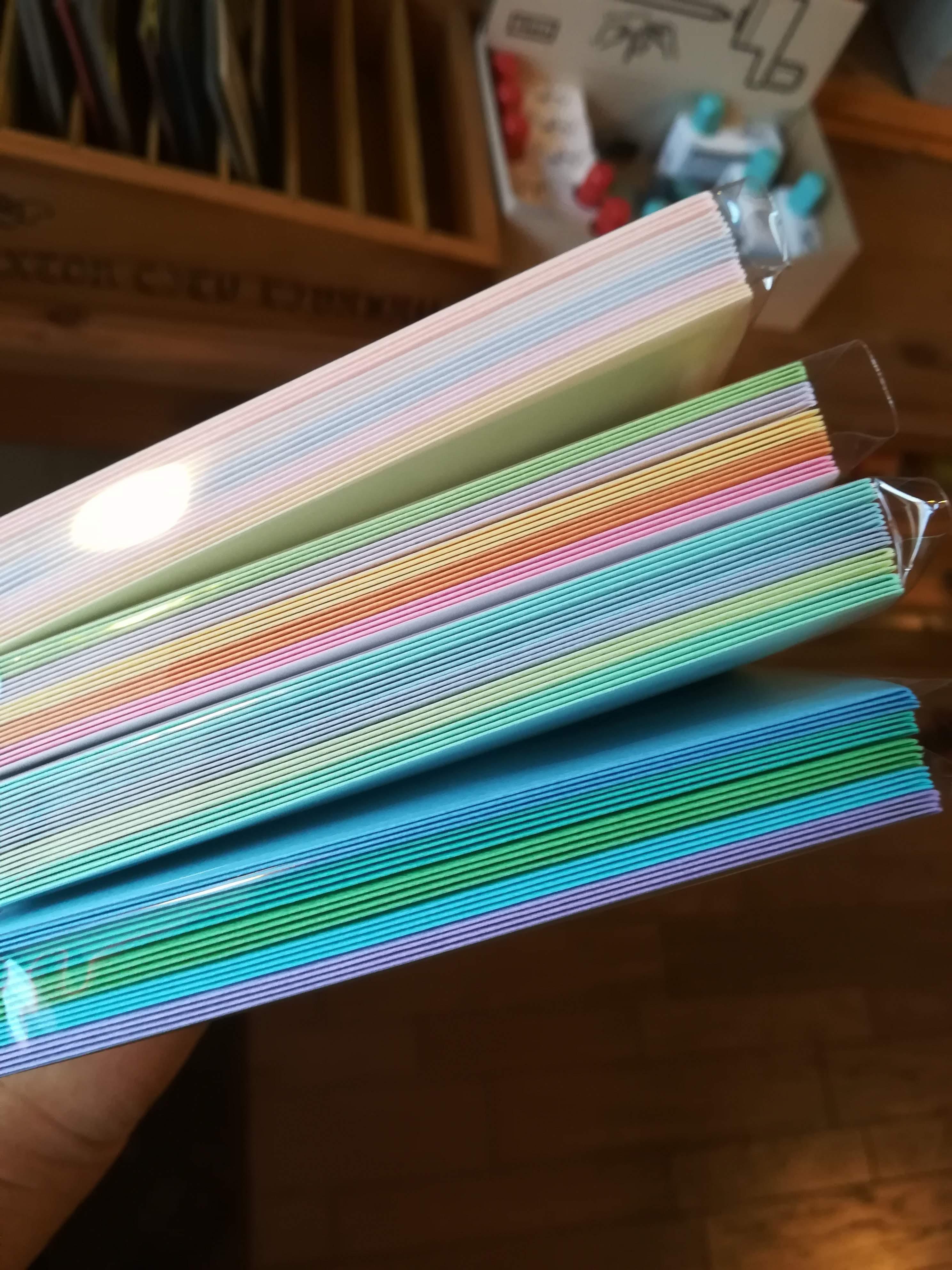 【タント封筒50枚入】色がたんとあって迷います^^